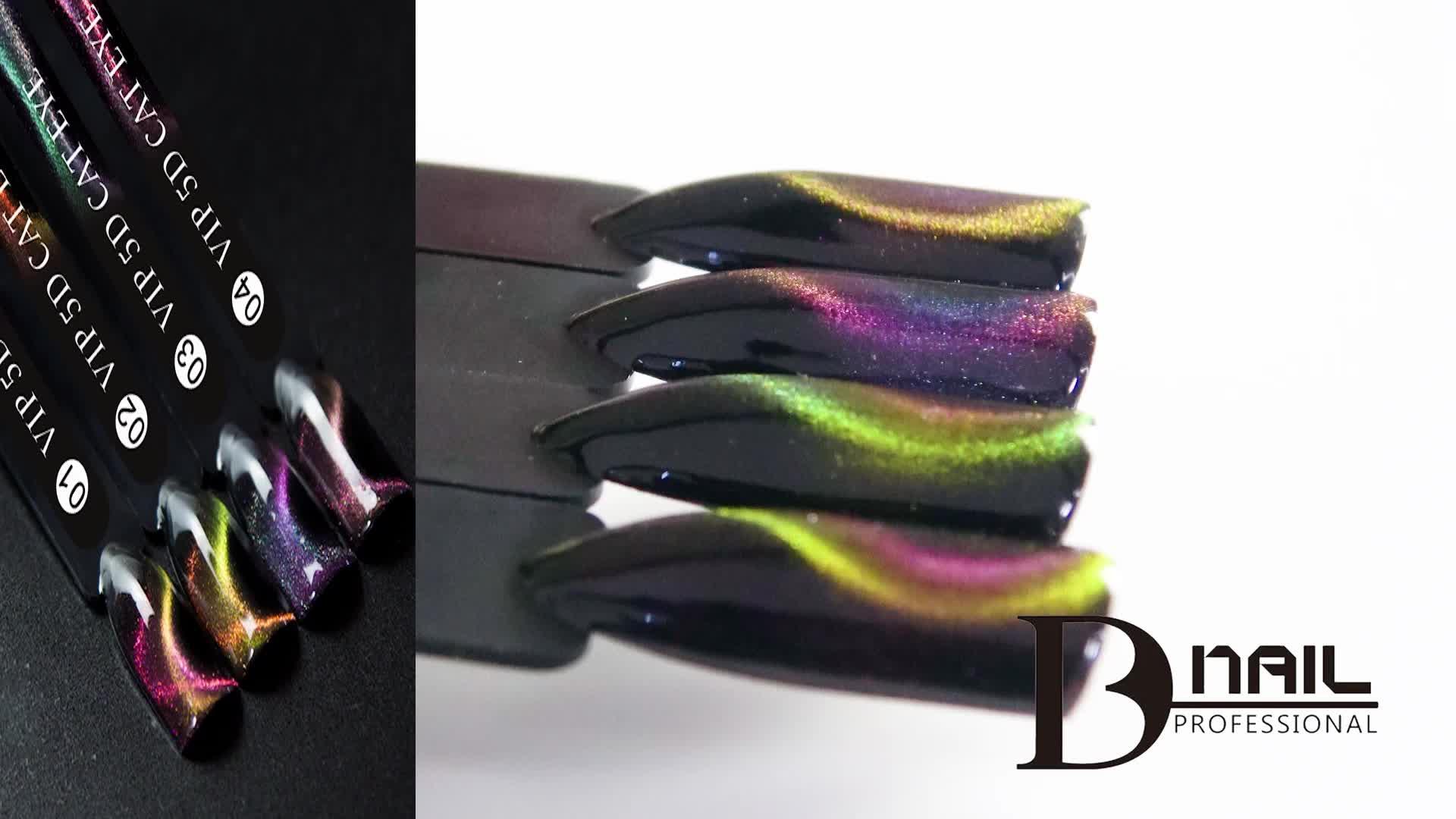 BD Merek UV LED 3D Gel Polandia VIP 5D Cat Eye Gel