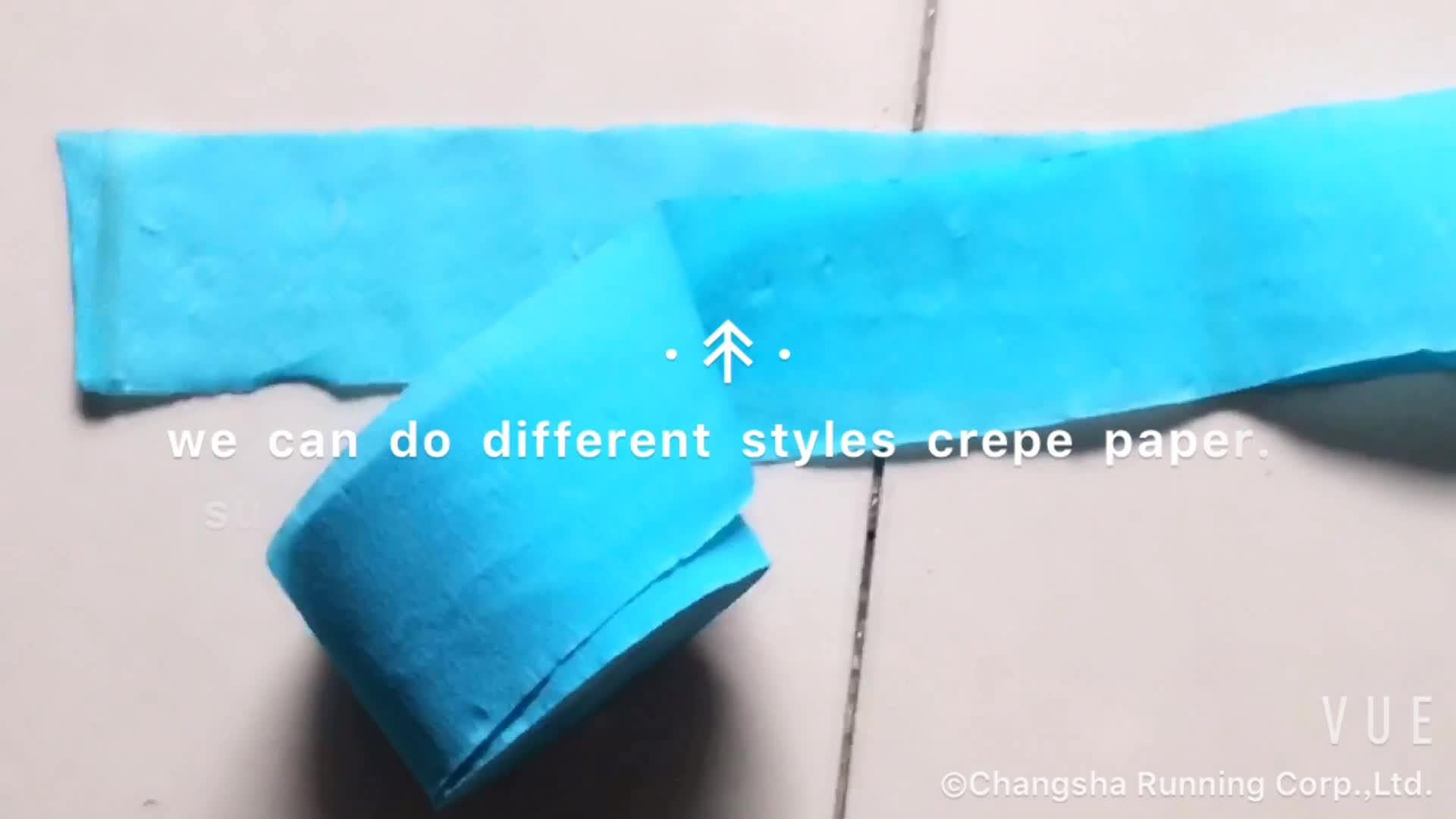 güzel renkli krep kağıt rulosu