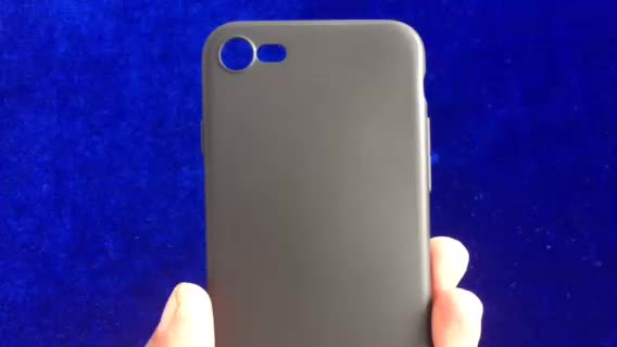 DFIFAN fashionable black cover case for iphone 7 8 , slim tpu matt finish black case for iphone 7 plus