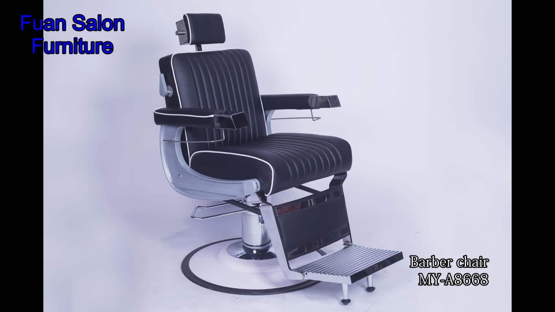 Professional modern custom reclining threading used barber for Modern salon chairs for sale