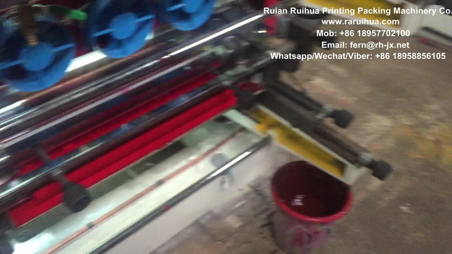 Multi Colore Flexo Letterpress Macchina Stampa Rotolo di Carta