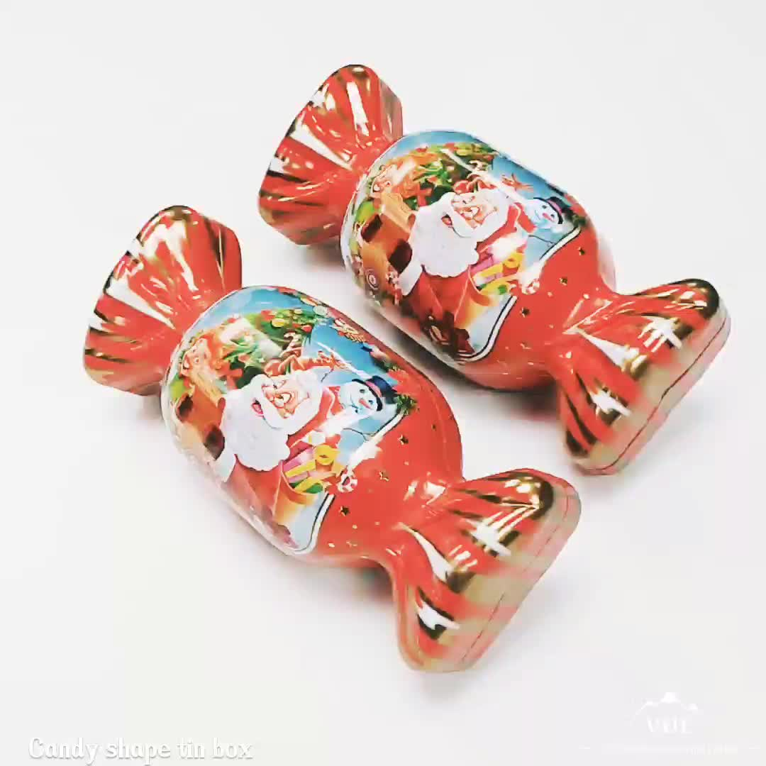 Promotional candy design christmas tin box for gift