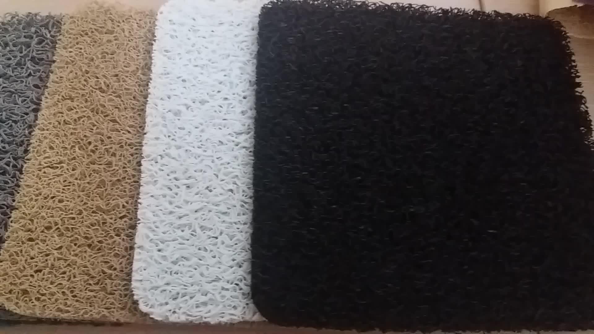 Miglior Fornitore All'ingrosso Cuscino Colorato Trappola Sporco di Polvere Zerbino, Coil Cheap Tappeto d'ingresso Zerbino, tappeto Tappetino