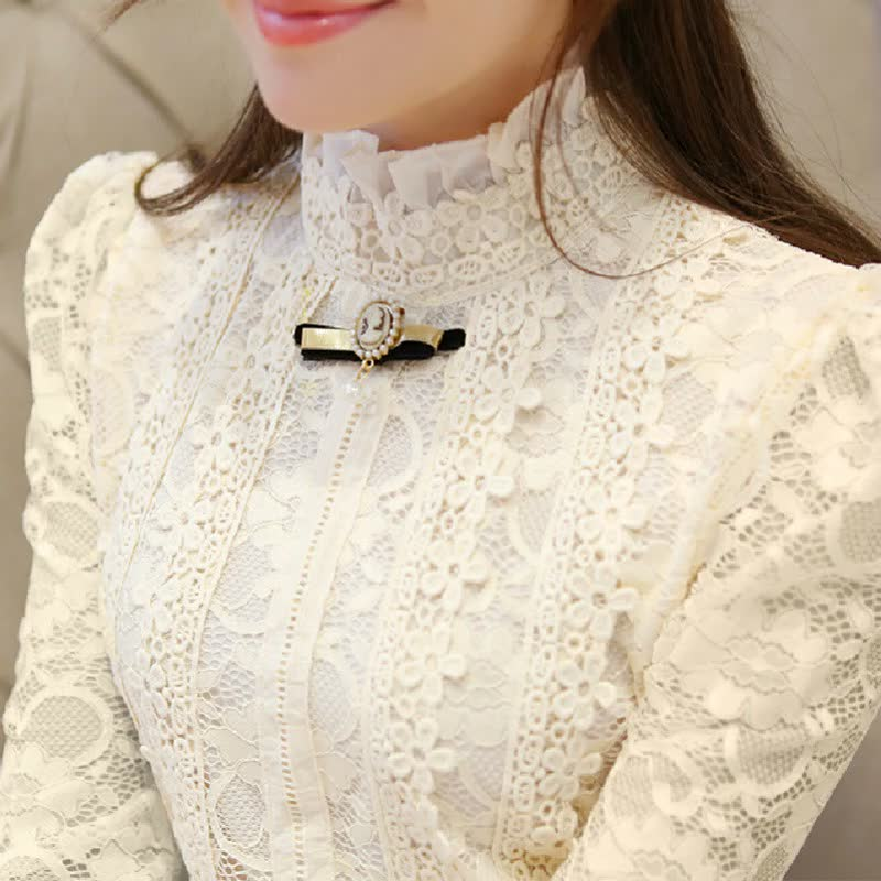Гипюровая Блузка С Жабо Купить