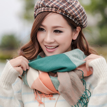 Plaid  woolen scarf