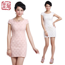 Shang crescent summer fashion 2013 new lace short paragraph cheongsam improved fashion lady skirt 1366 # 1207 #