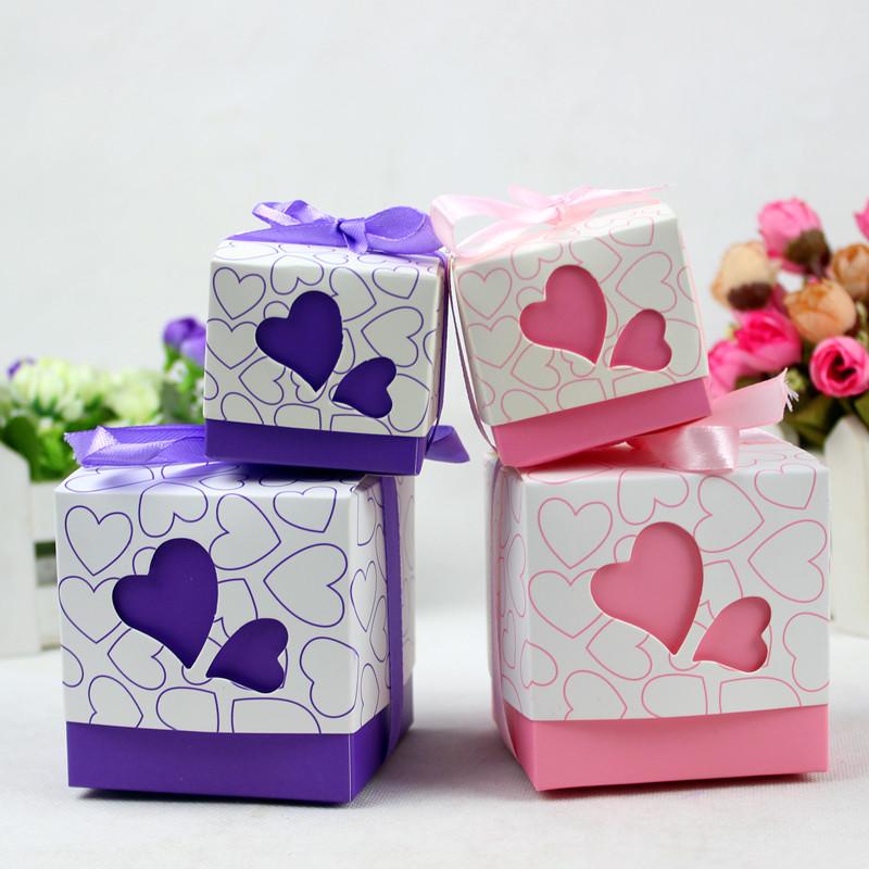 欧式创意喜糖盒子 2013新款方形回礼喜糖袋子 结婚用品喜糖包装