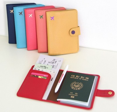 South Korea imported genuine leather monopoly electromagnetic shielding men and women abroad Passport folder document sets ver3
