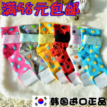 korea imports purchasing genuine the aries dot candy color socks female pure the socks. nvwa socks