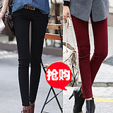 New female Korean trend in autumn and winter plus size ladies feet pencil pants elasticity slimming plus size ladies trousers
