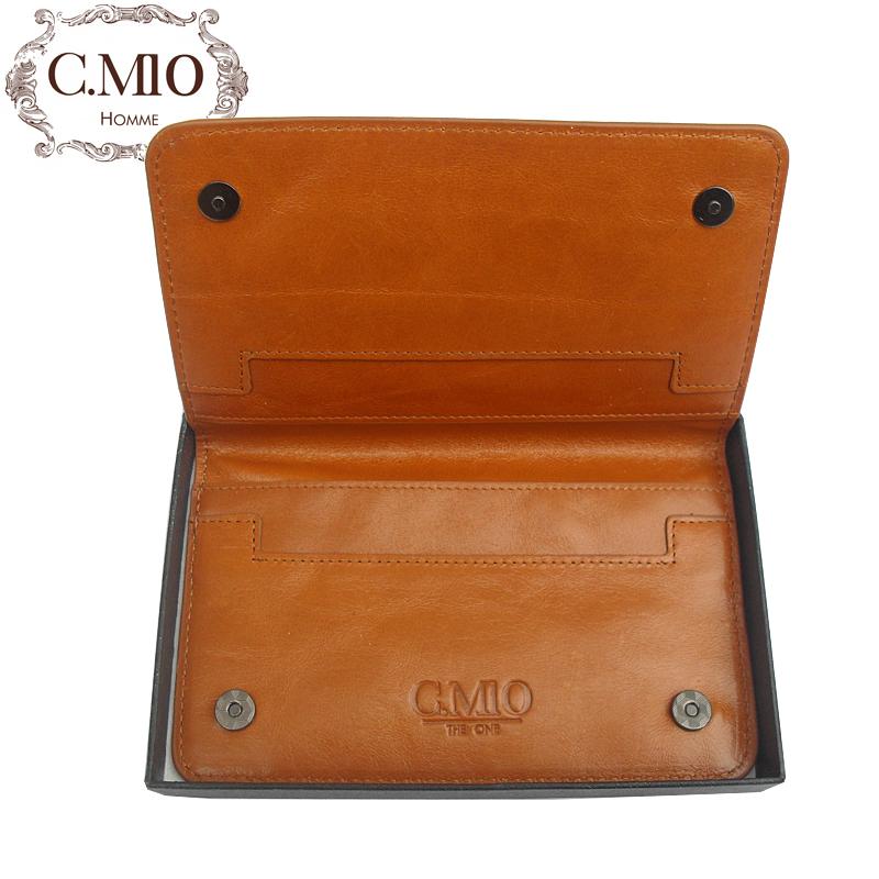 Подарки Cmio kaluomiou основных британской моды ретро бизнес мужской мини-кожа сцепления сумка кожа