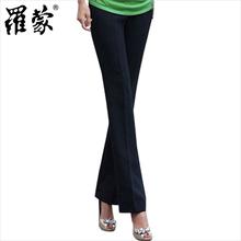 罗蒙正品女士西裤 夏季薄款 藏青色 直筒长裤 职业装工作西装裤图片