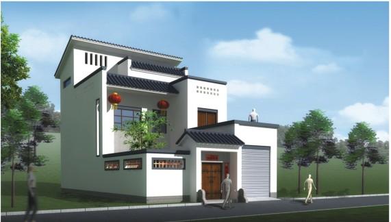 新农村三层自建别墅设计图纸 三层别墅带效果图 3层房屋施工图