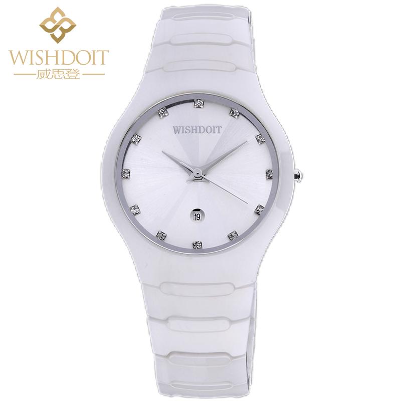 威思登品牌手表女正品无刻度时尚复古腕表男手表石英防水中性手表