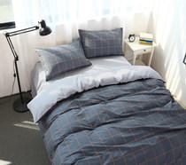 淘花园记纯棉简约全棉床上用品四件套1.5/1.8米被套床单三件套