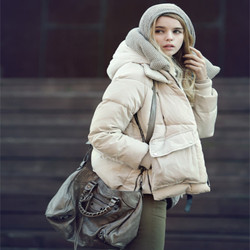 Pregnant women big size thick down jacket coat Korean style short style military