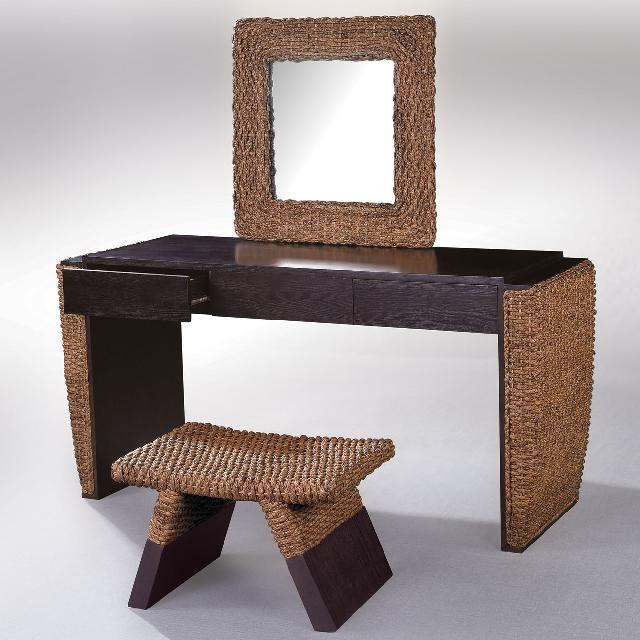 藤家具 藤梳妆台 梳妆椅 梳妆镜 梳妆三件套 卧室家具 藤艺