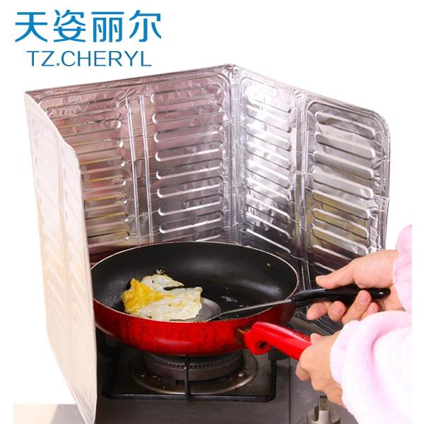 日本进口灶台防油挡板烹饪炒菜铝箔隔油纸厨房用具防油溅隔热板
