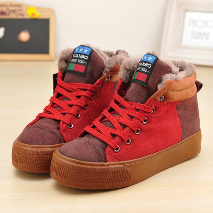Круглый носок Плоская подошва Шнурок Средний каблук (3 -5 см) Клееная обувь Шнуровка, Платформа Несколько цветов