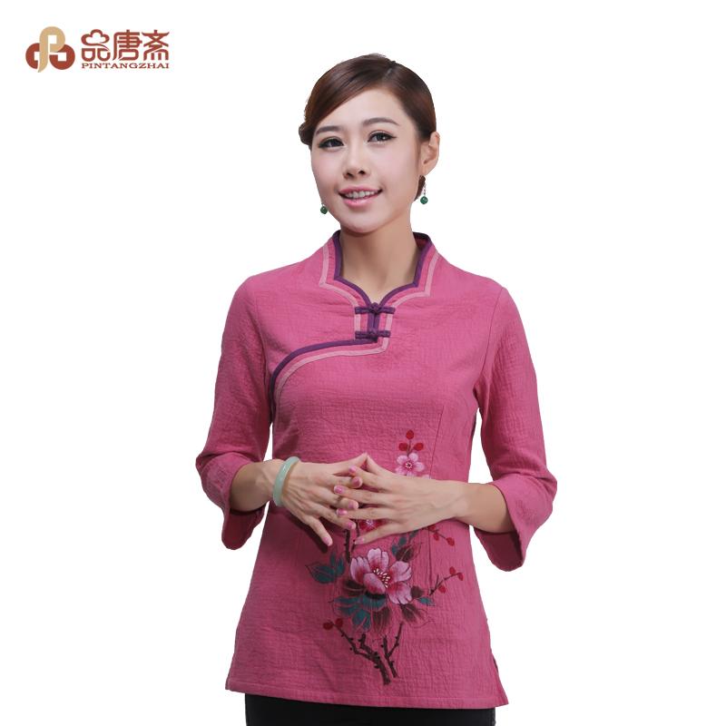 Блузка в китайском национальном стиле Product Tang Zhai d13406 Осень 2013