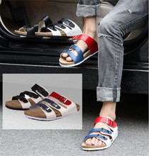 Edison male and female couple models summer shoes fashion sandals cork Birkenstock sandals casual beach sandals