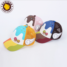 Excellent music cool Korean boys and girls children's clothing children hat cap visor hat wings tide 70025