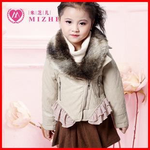 冬装童装儿童皮衣外套 女童韩版外衣女孩新款保暖皮衣皮草