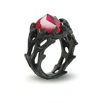 rose 925 Silver Oxide Black CZ rings