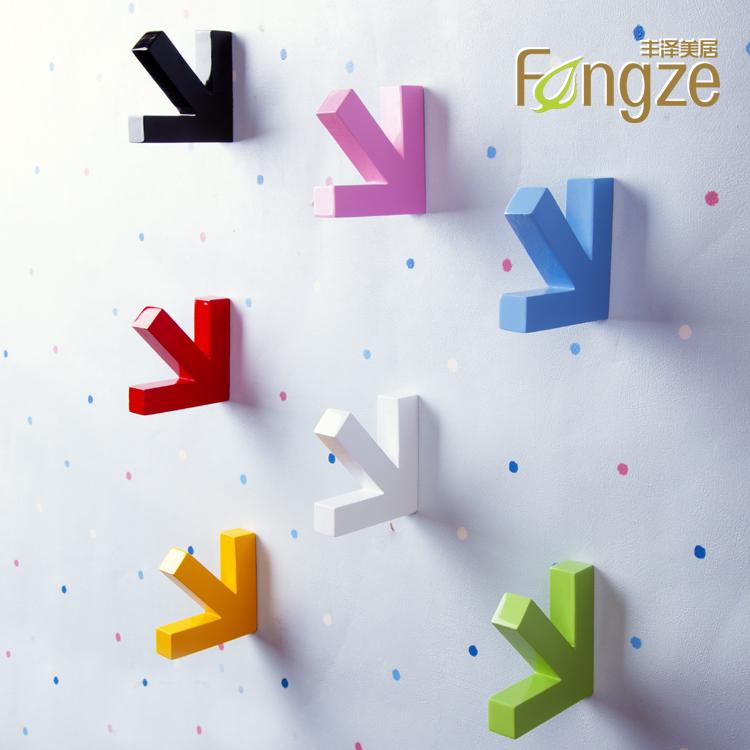Fengze丰泽美居 实木 墙壁衣挂 壁挂 箭头 创意装修 衣帽架TD-073