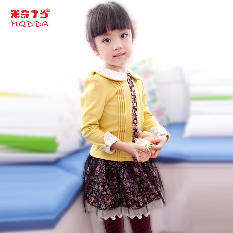 детский костюм MIQIDIDA 13225 2013 Колледж Смешанная ткань Весна-осень Девушки