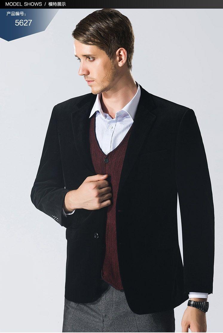 男装雅戈尔秋冬西服 修身单西装 平绒上衣外套 男士便服大码西装图片