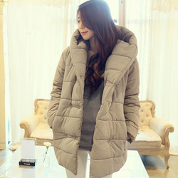 Korean style hooded jacket coat thick padded cotton jacket coat
