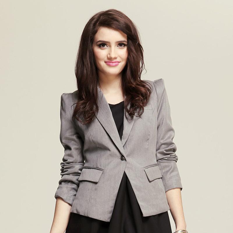 艾夫斯 女装2013秋装 合体 修身 休闲 时尚 女短款外套 女小西装图片