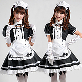 taobao english Light tone black-and-white maid maid cosplay maid restaurant maid anime costumes for special code