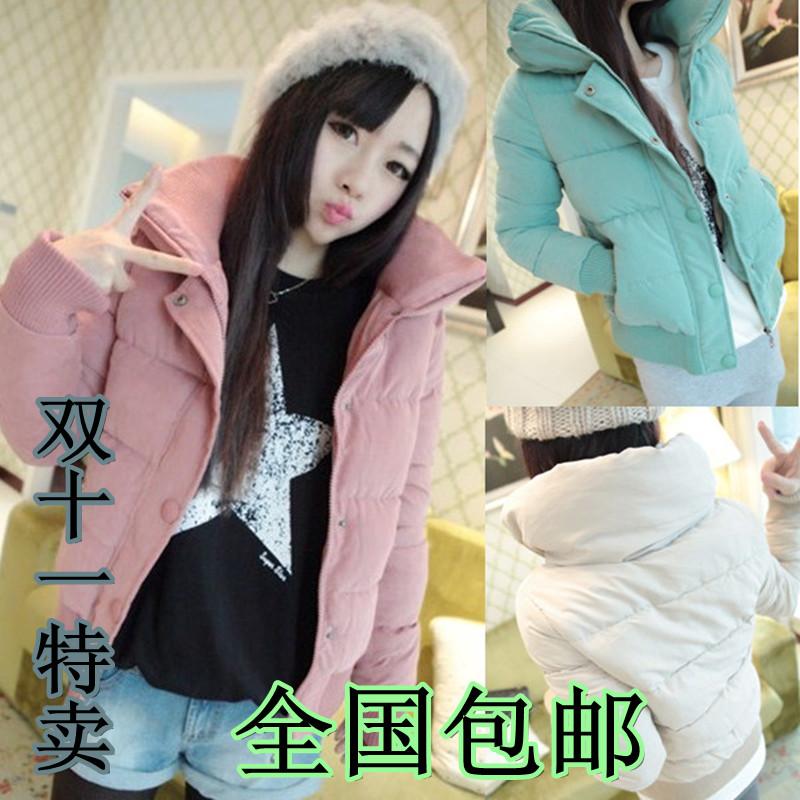 Женская утепленная куртка Мягкий до 2013 и Южная Корея женщин осенью и зимой издание тонкий Джокер новая плюс размер стеганые куртки случайные обрезанный хлопок куртки волны