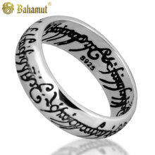 Bahamut 925 silver The Lord of the rings the one ring ring carved Thai silver edition men offered men ring