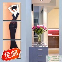 Meishimeike Restaurant minimalist decorative painting frame painting small ocean gerbera daisy Triptych dining room living room bedroom wall painting paintings