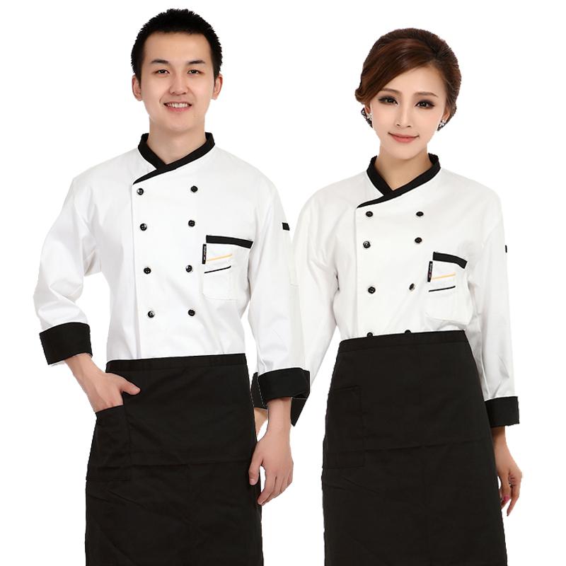 厨师工作服 酒店饭店厨师服工装 男女厨房工作服 餐饮厨师服长袖