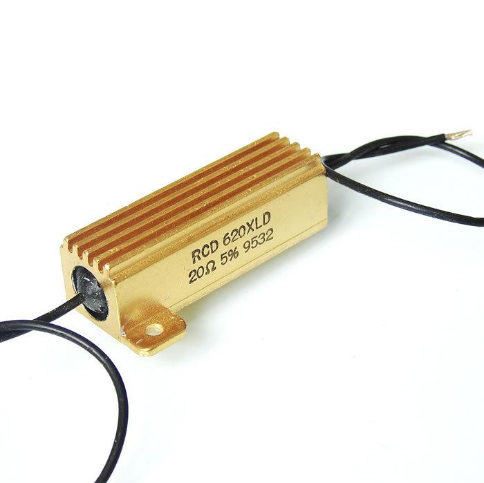 功率电阻_墨西哥产 rcd 50w 620xld 大功率铝壳电阻 20欧/20r/20Ω