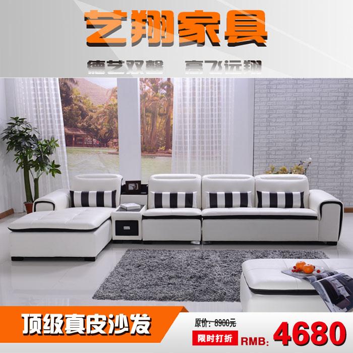 Кожаный диван Семья стиль кожаный диван кожаный диван диван гостиной угловой кожаный диван секционные замша диван