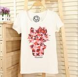 韩版圆领卡通印花T恤