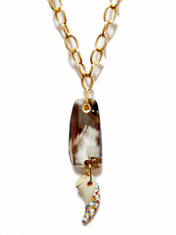 2013新款施华洛世奇水晶正品代购现货限量女款锁骨链长毛衣链项链