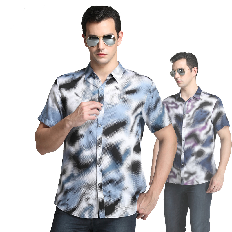 Рубашка мужская Armani 2013 A82051 Лето Короткие рукава (длина рукава <35см)