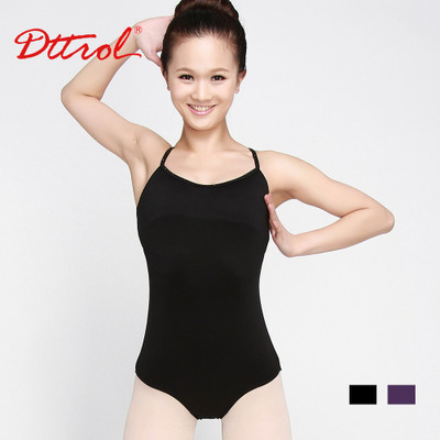 Adult female round neck leotard ballet clothes and suspenders jumpsuit free shipping clearance dance costume