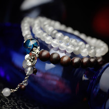 Phoenix Nirvana retro multilayer bracelet female devil natural stone jewelry lobular red sandalwood Chinese style blue dye