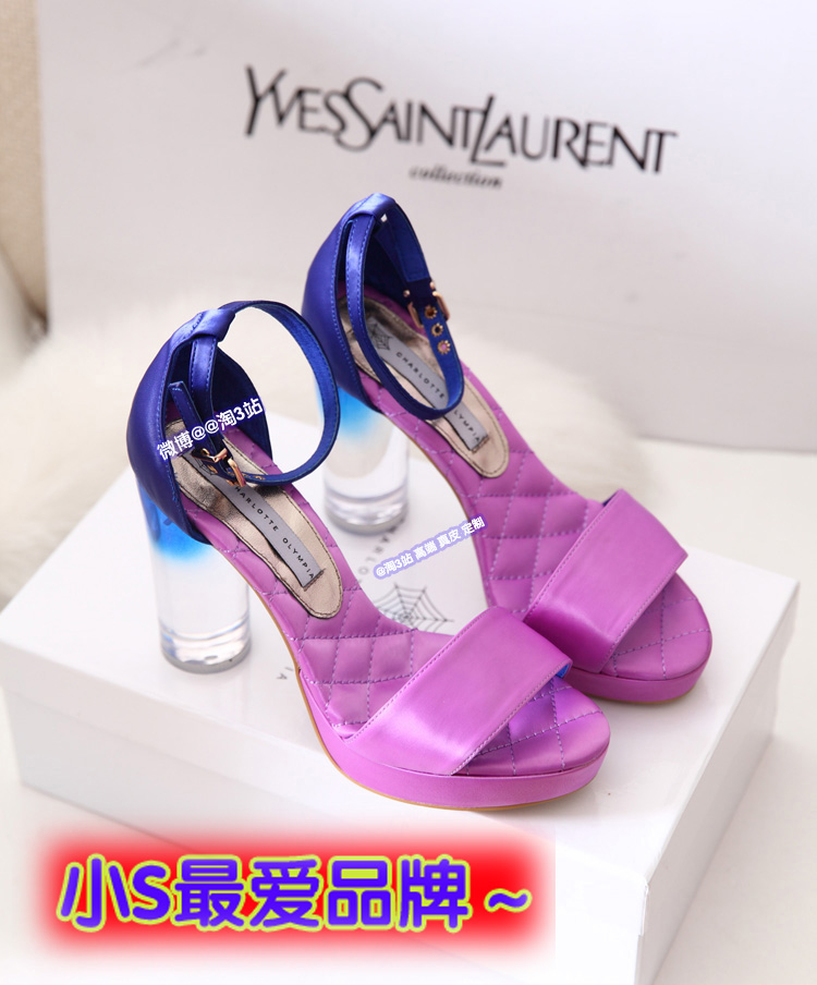 Crystal clear with the influx of European and American drilling new 2013 summer coarse waterproof ladies sandals with high heels