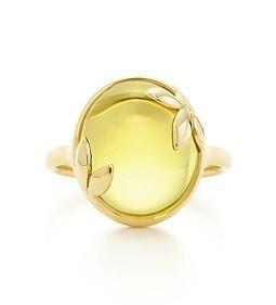 美国正品代购tiffany蒂芙尼橄榄叶黄水晶18k金戒指包邮税附小票图片