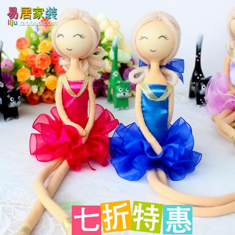Декоративные украшения Приостановка практические Свадебные куклы куклы балета представляет пары творческие украшения дома автомобиль аксессуары интерьера Полотно