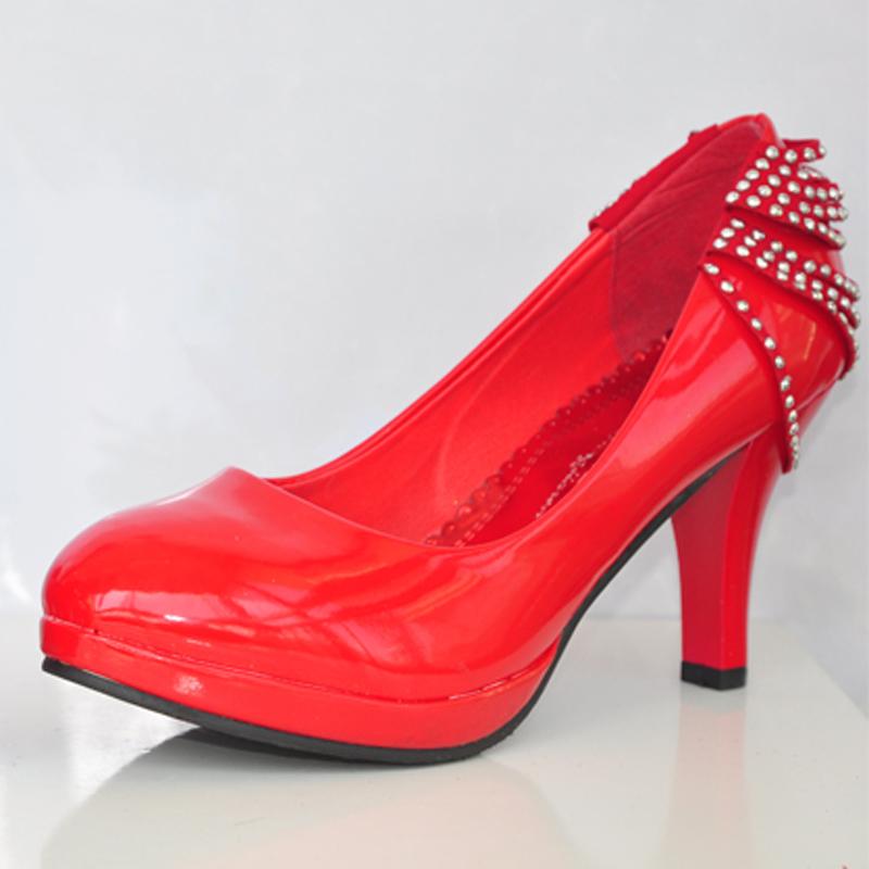 结婚鞋子 红色礼仪鞋 新娘鞋 结婚鞋 红鞋子