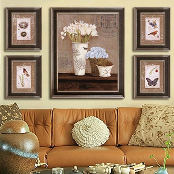 美式花鸟蝴蝶组合创意/客厅/餐厅装修装饰画壁画【浪漫满屋系列】